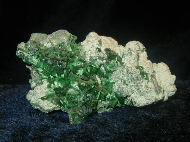 Malachite in Matrix